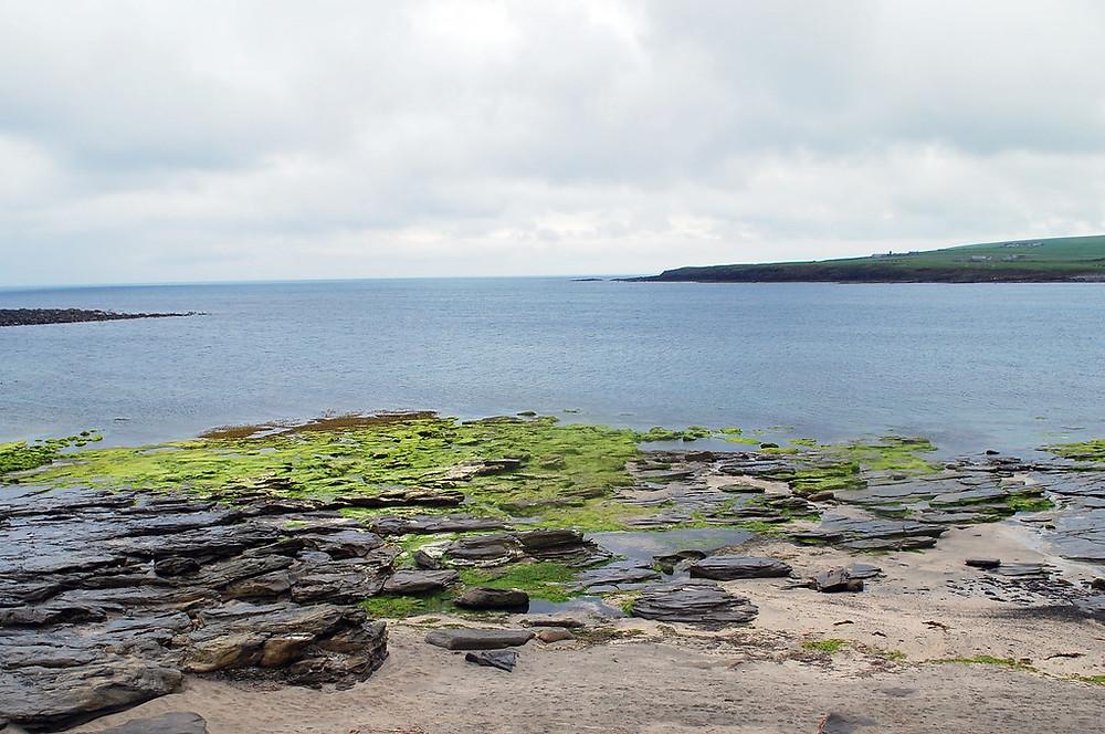 Skara Brae beach overlooking the Bay of Skail
