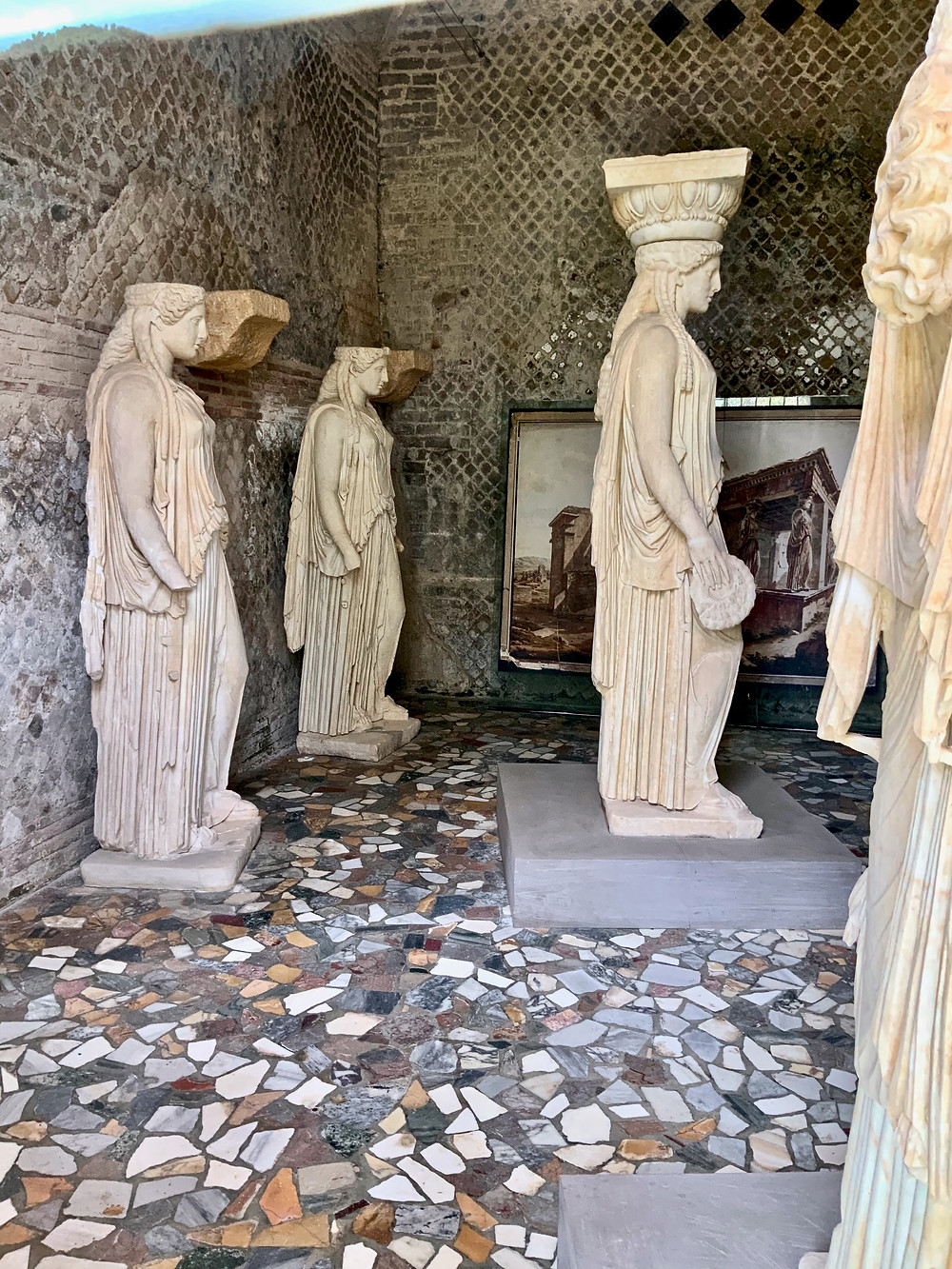 Roman copies of the Erechthion caryatids in the Museum of the Canopus