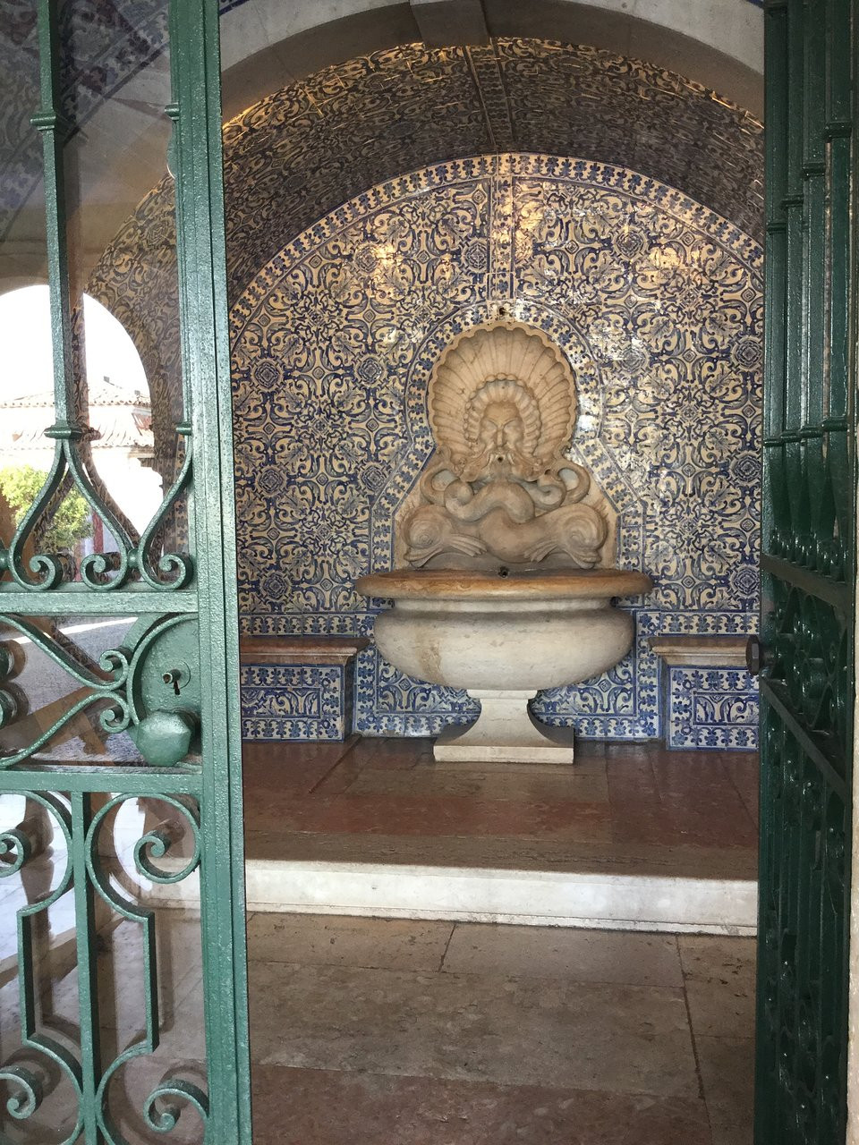 Moorish influence in the garden of Fronteira Palace
