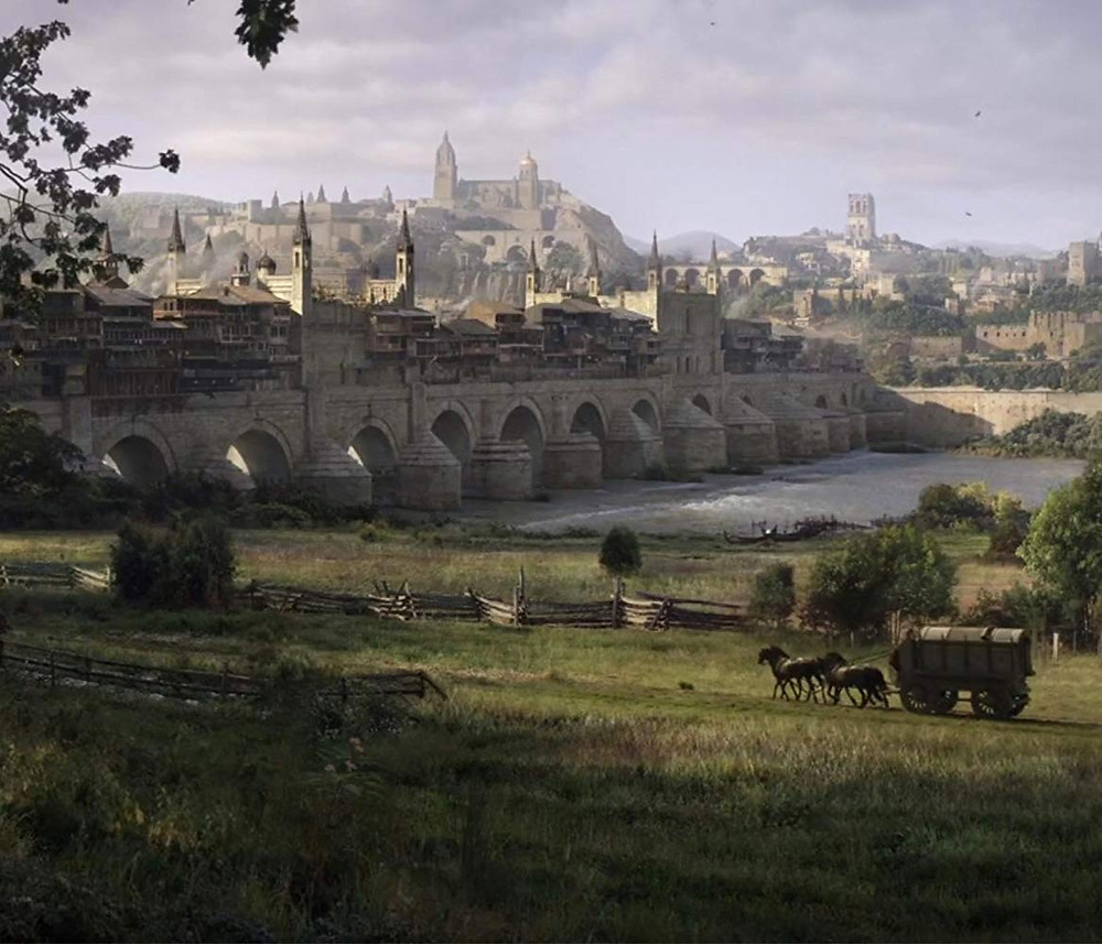 Cordoba's Roman Bridge CGI'd to be the Long Bridge of Volantis