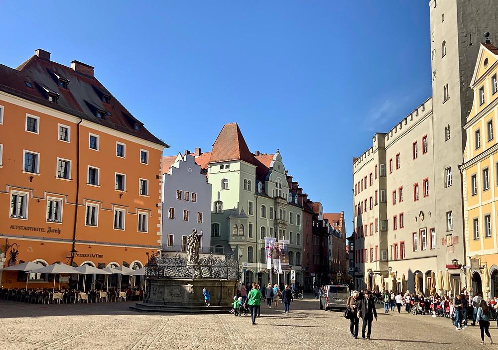 Fountain of Justice on Haidplatz Square