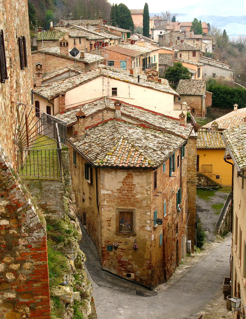 the village of Montepulciano in Tuscany