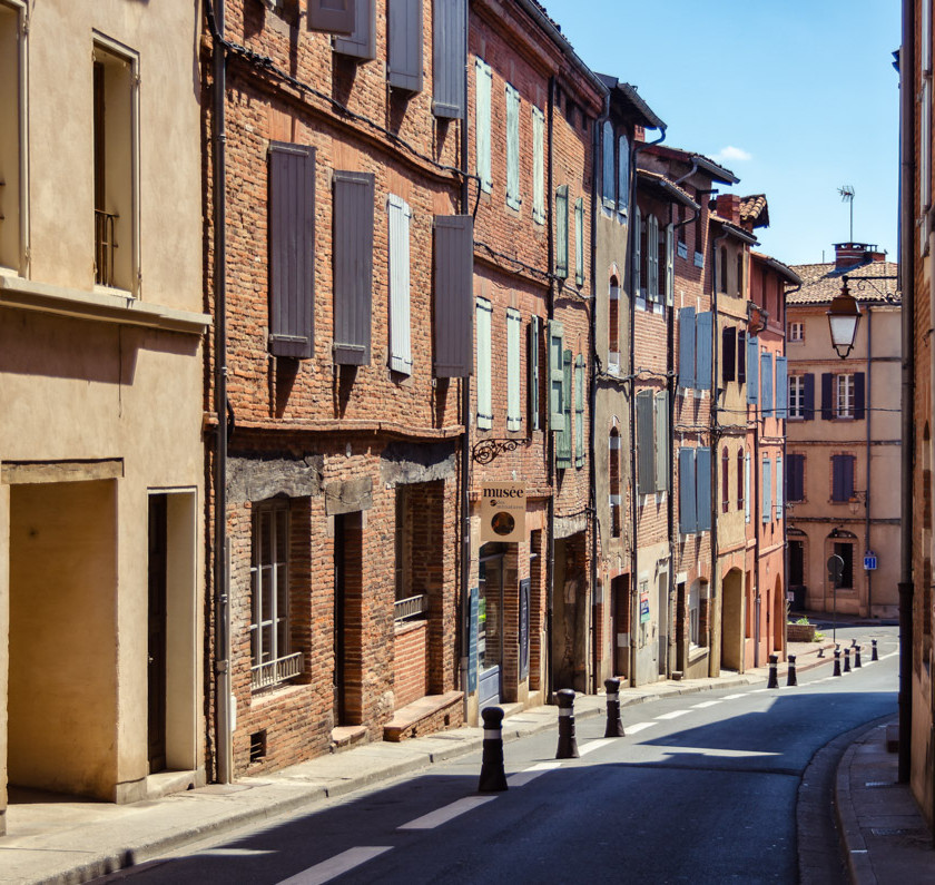 the streets of Castleviel in Albi France