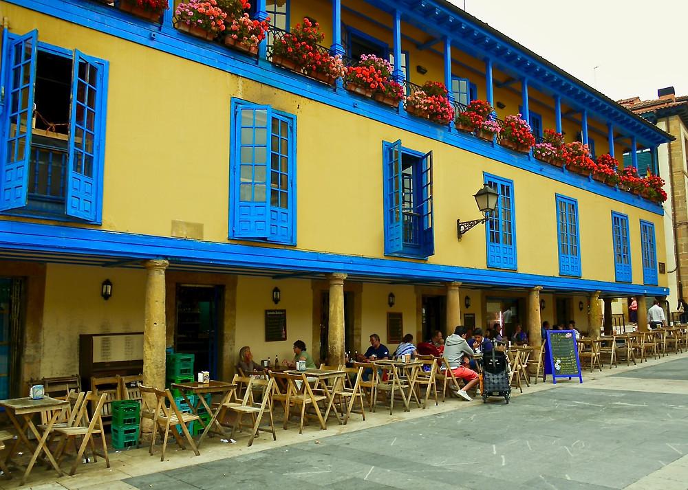 a colorful scene in Oviedo Spain