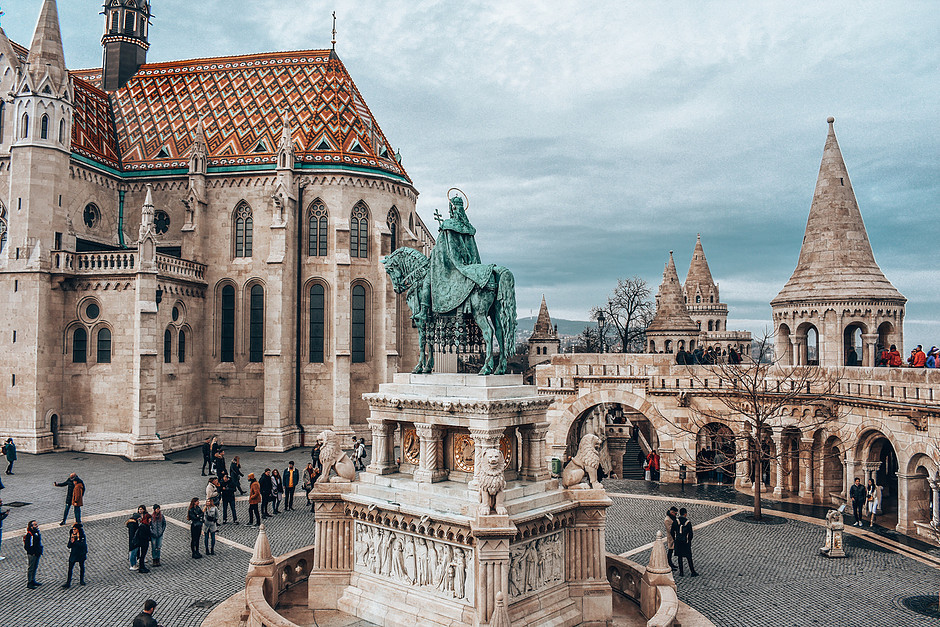 Matthias Church and Fisherman's Bastion on the Buda side of Budapest, sporting one of the best viewing points in Budapest