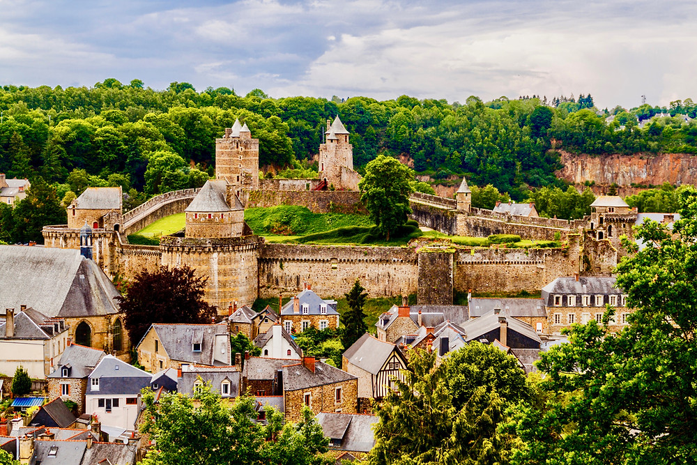 the Chateau de Fougeres in the village of Fougeres Brittany