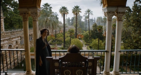 Prince Doran and Ellaria discuss whether to seek revenge for Oberyn's murder
