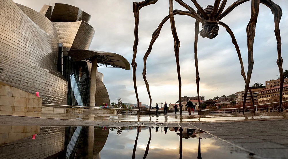 the Guggenheim Museum and Louise Bourgeois' Maman spider sculpture