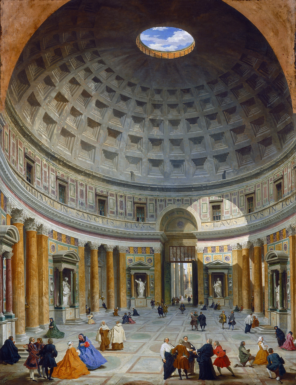 1734 painting of the Pantheon by Giovanni Paolo Panini