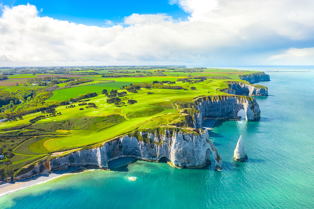 white cliffs of Etretat