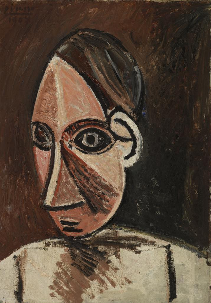 Pablo Picasso, head of a Woman, 1907