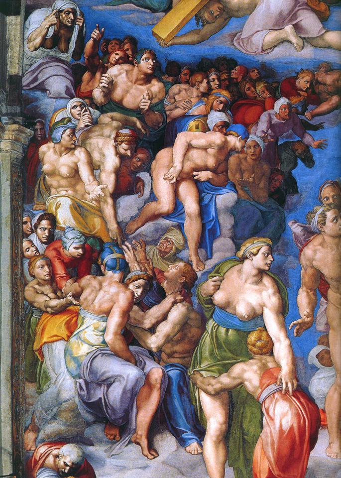 detail of Michelangelo's The Last Judgment