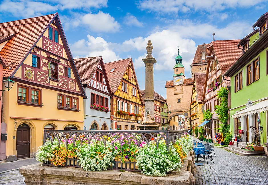 Rothenburg ob der Tauber, the most famous and prettiest village on the Romantic Road