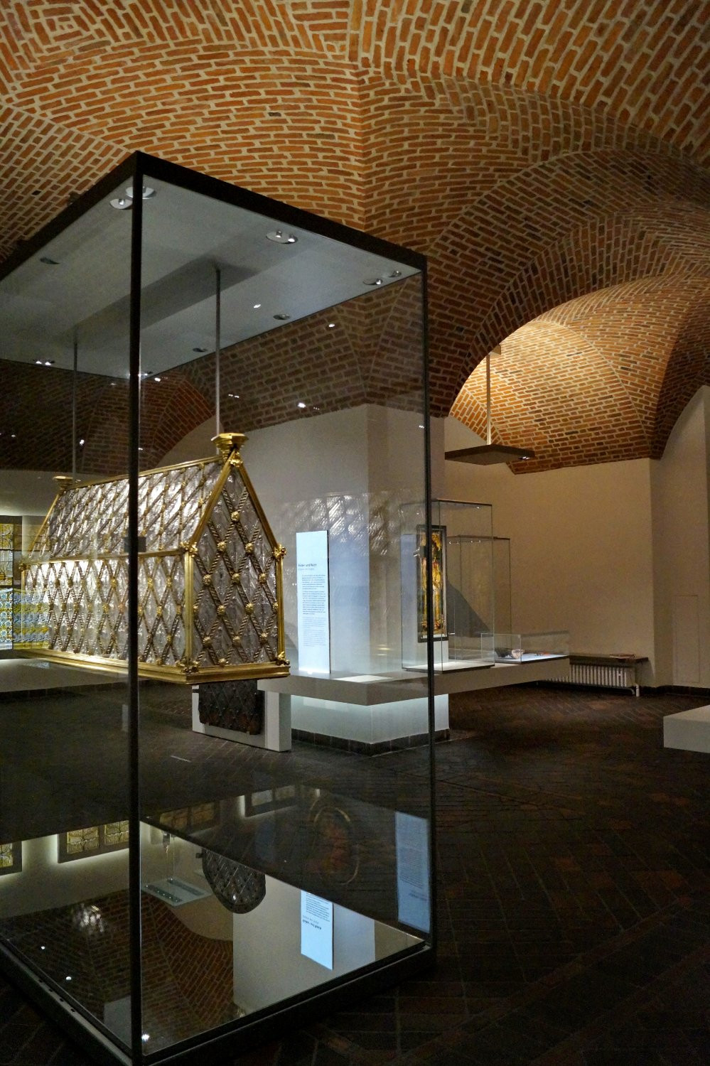 reliquary in the medieval section, just look at the exposed brick vaulted ceilings