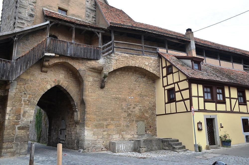 Roder Gate on the city walls of Rothenburg ob der Tauber
