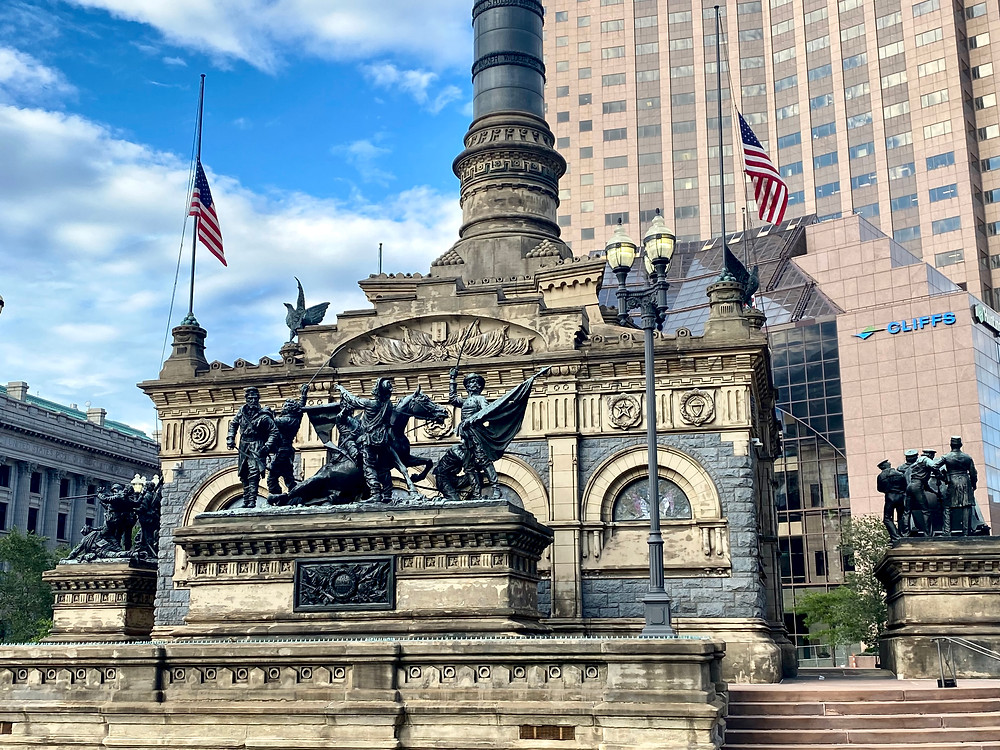 Soldiers & Sailors Monument in Public Square
