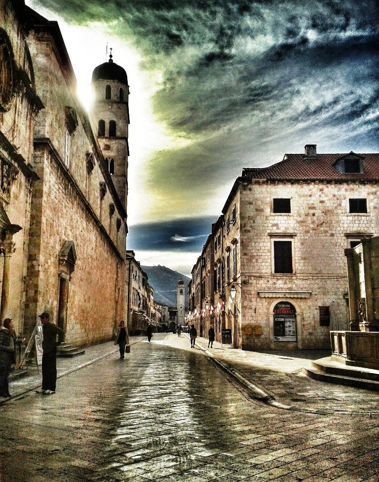 Dubrovnik in the winter, unblighted by tourists