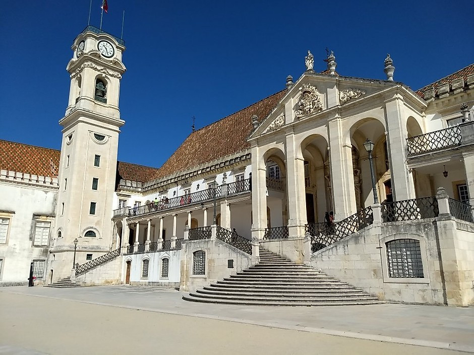 the UNESCO-listed Coimbra University in Coimbra