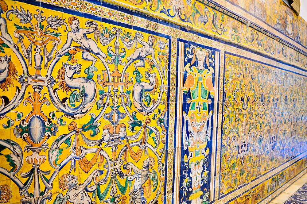 tiles from Triana in the Ambassador's Hall in the Alcazar