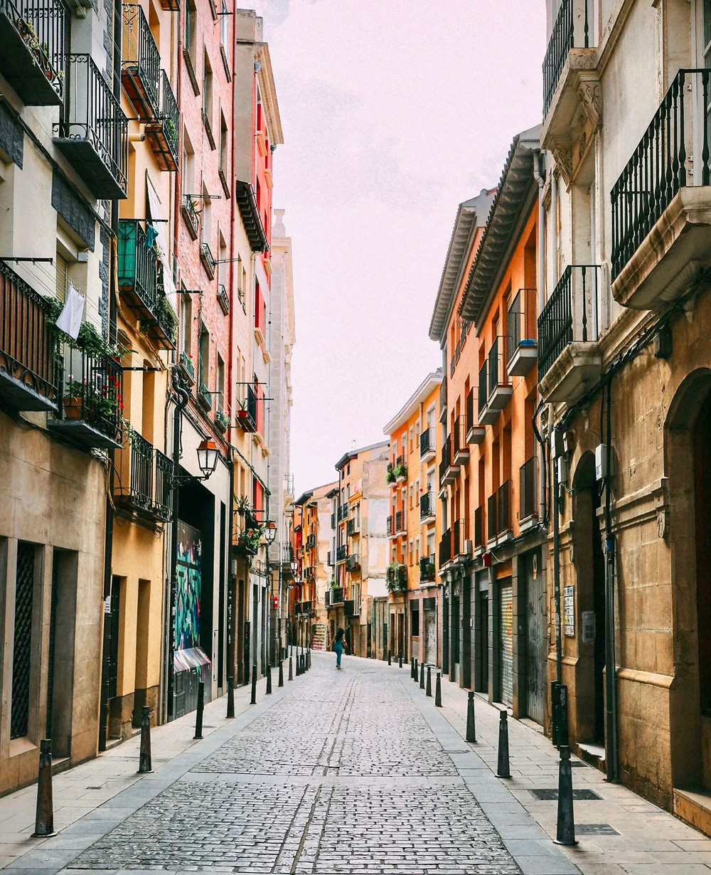 old quarter of Logrono in la Rioja Spain