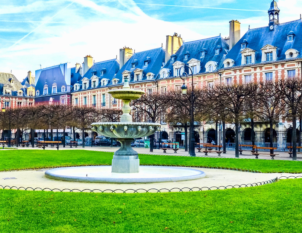the Places des Vosges where you'll find the Victor Hugo Museum