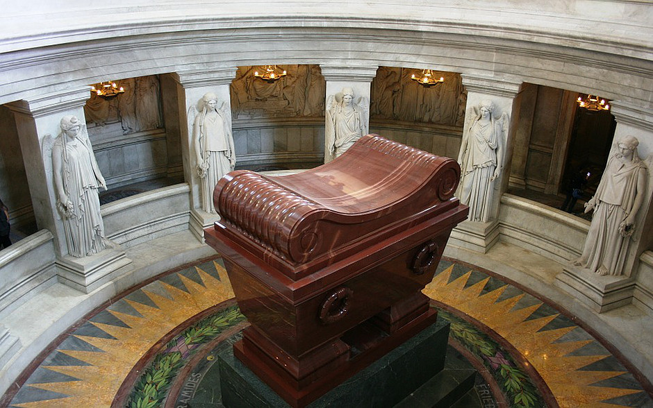 Napoleon's Tomb under the dome of the royal chapel of Les Invalides