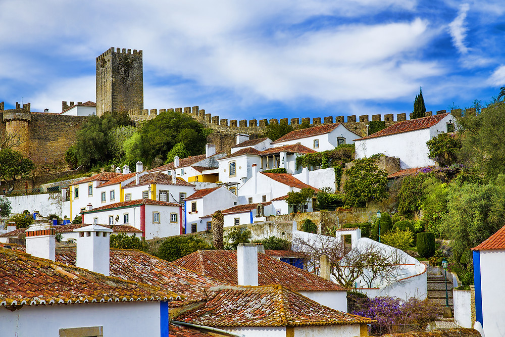 beautiful Obidos, view from the city walls