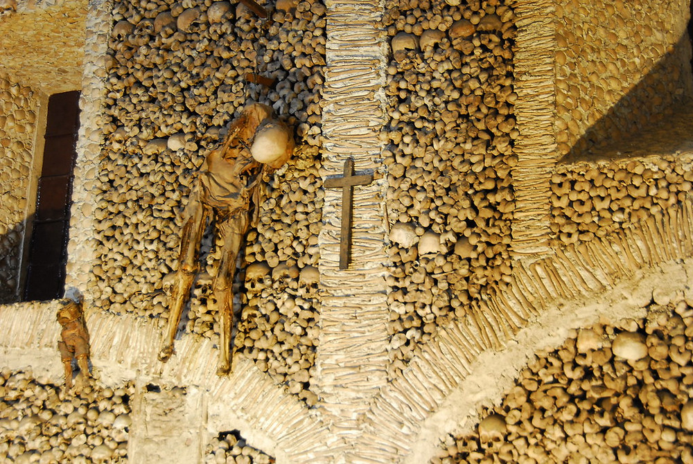 the Chapel of Bones in Evora Portugal