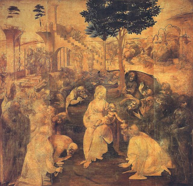Leonardo da Vinci, Adoration of the Magi, 1481
