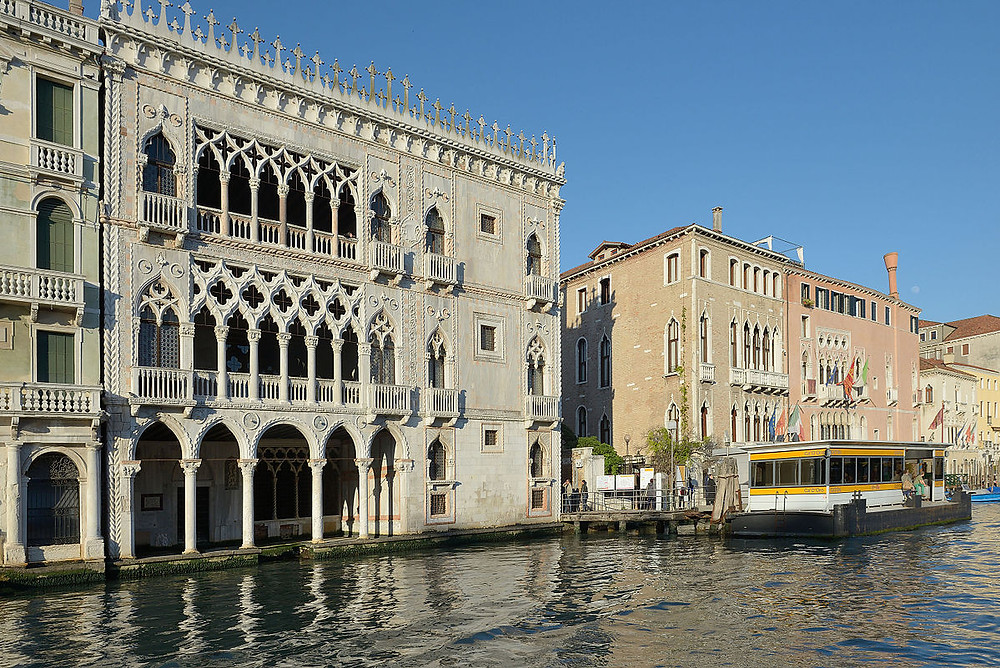 the Gothic Ca' d'Oro on Venice's Grand Canal
