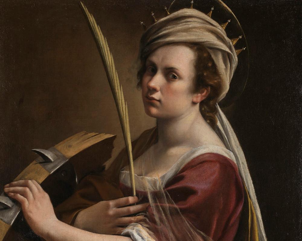 Artemisia Gentileschi, Self Portrait as Saint Catherine of Alexandria, c. 1615–17.