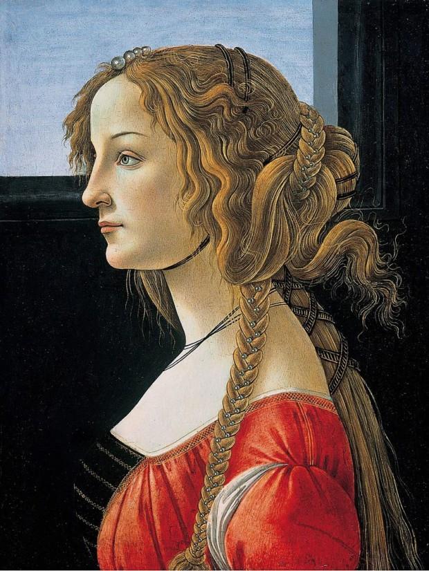 Sandro Botticelli, Portrait Of Simonetta Vespucci, 1476, Staatliche Museum, Berlin