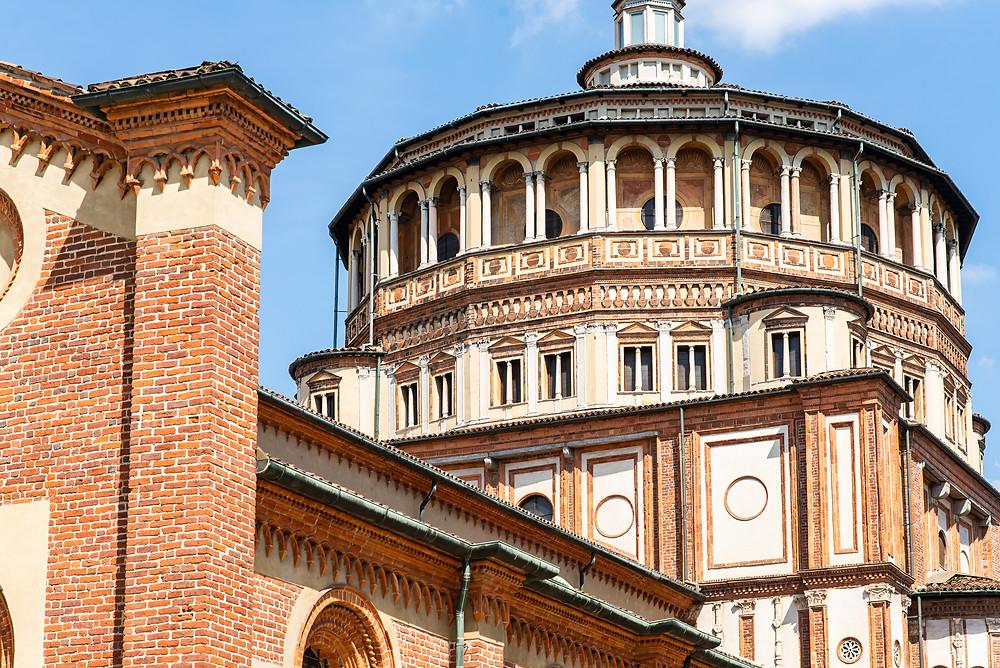 the  pretty Renaissance Church of Santa Maria delle Grazie