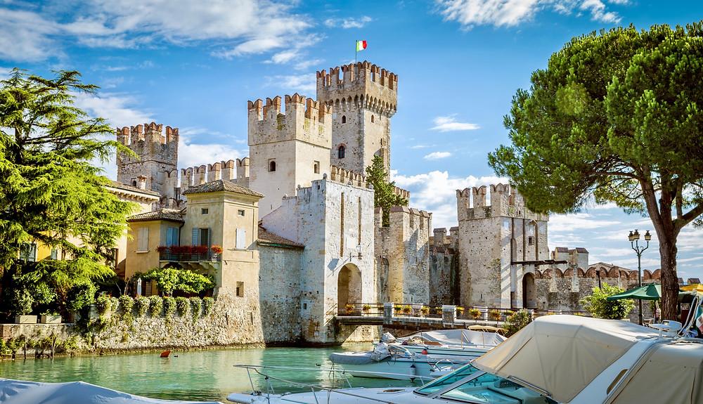 Rocca Scaligera Castle in Sirmione near Lake Garda