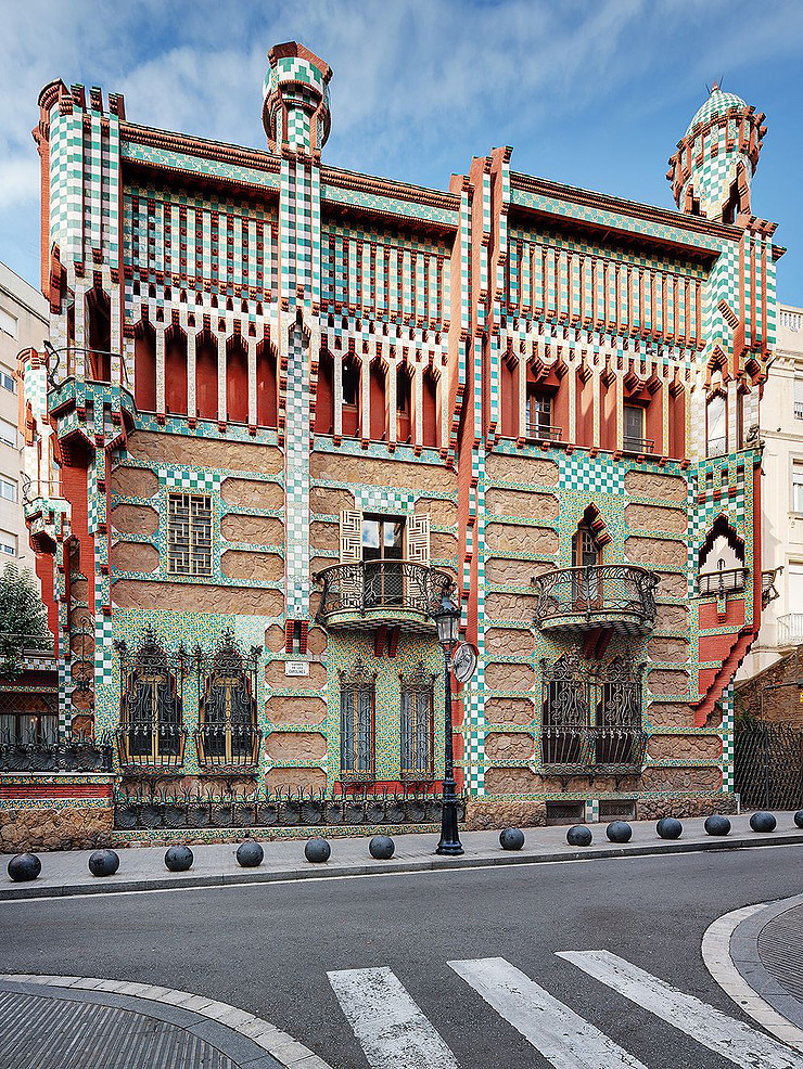 the exterior of Gaudi's Casa Vicens