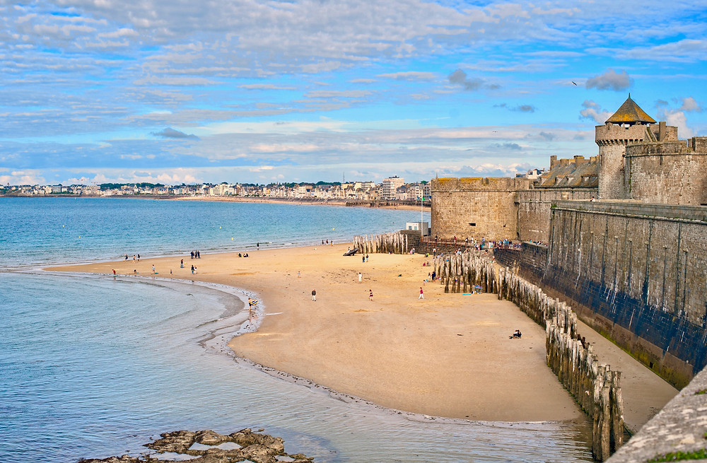 the walled town of Saint-Malo in Brittany