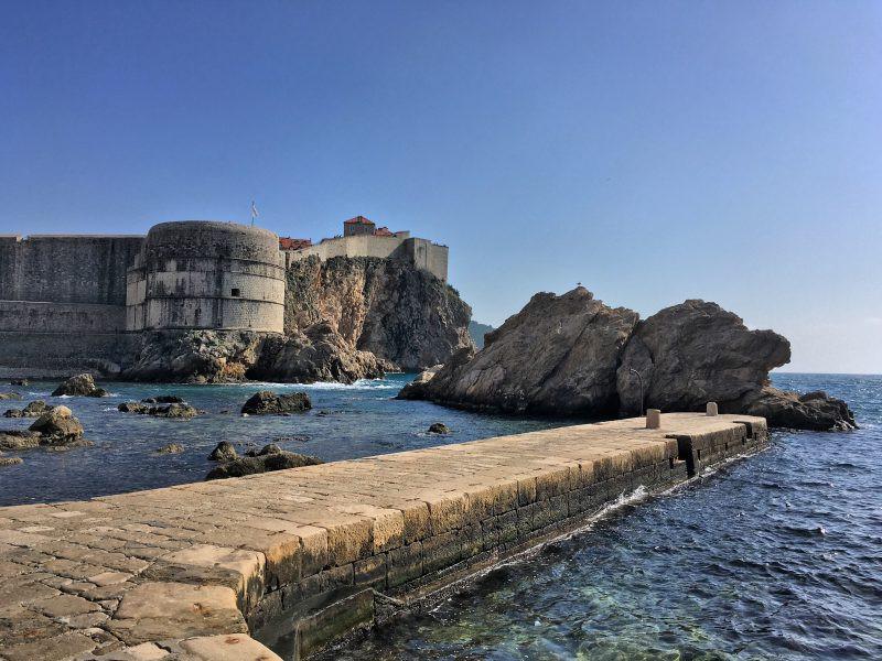 the pier in west Dubrovnik harbor