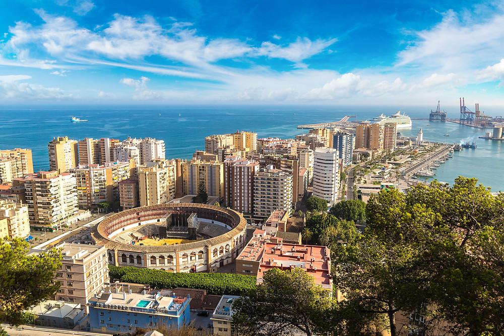cityscape of Malaga Spain