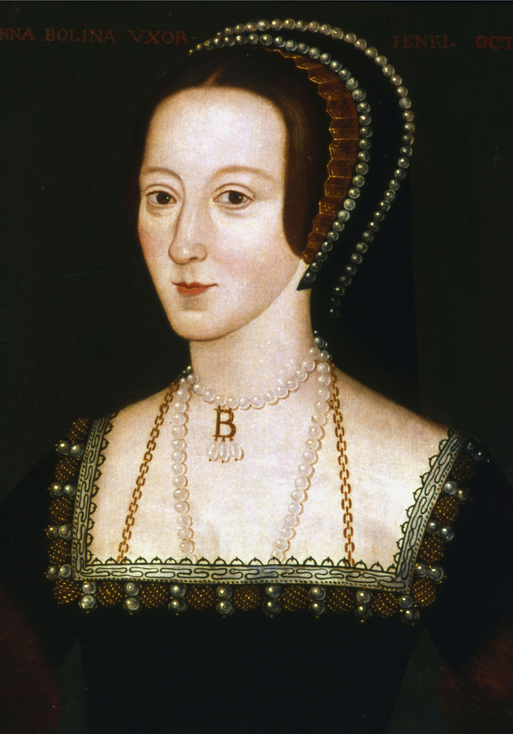 Anne Boleyn, late 16th century copy of a lost original of c.1533-1536  -- Henry VIII's doomed second wife and mother of Queen Elizabeth I