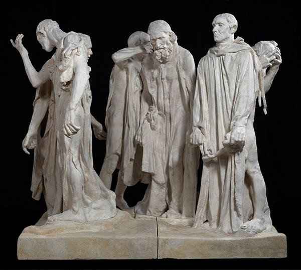 plaster model of The Burghers of Calais in the Rodin Museum in Paris