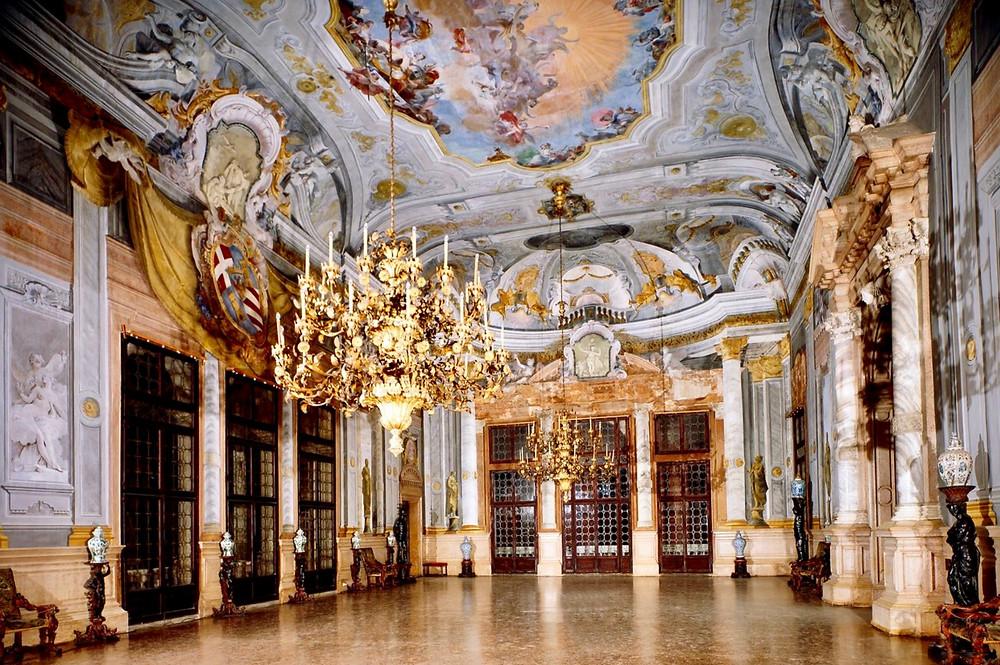 ballroom of the Ca' Rezonnicco in Venice