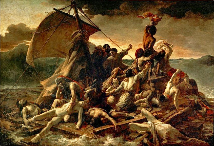 Theodore Gericault, Raft of the Medusa, 1818-19 -- one of the Louvre's best and most dramatic paintings