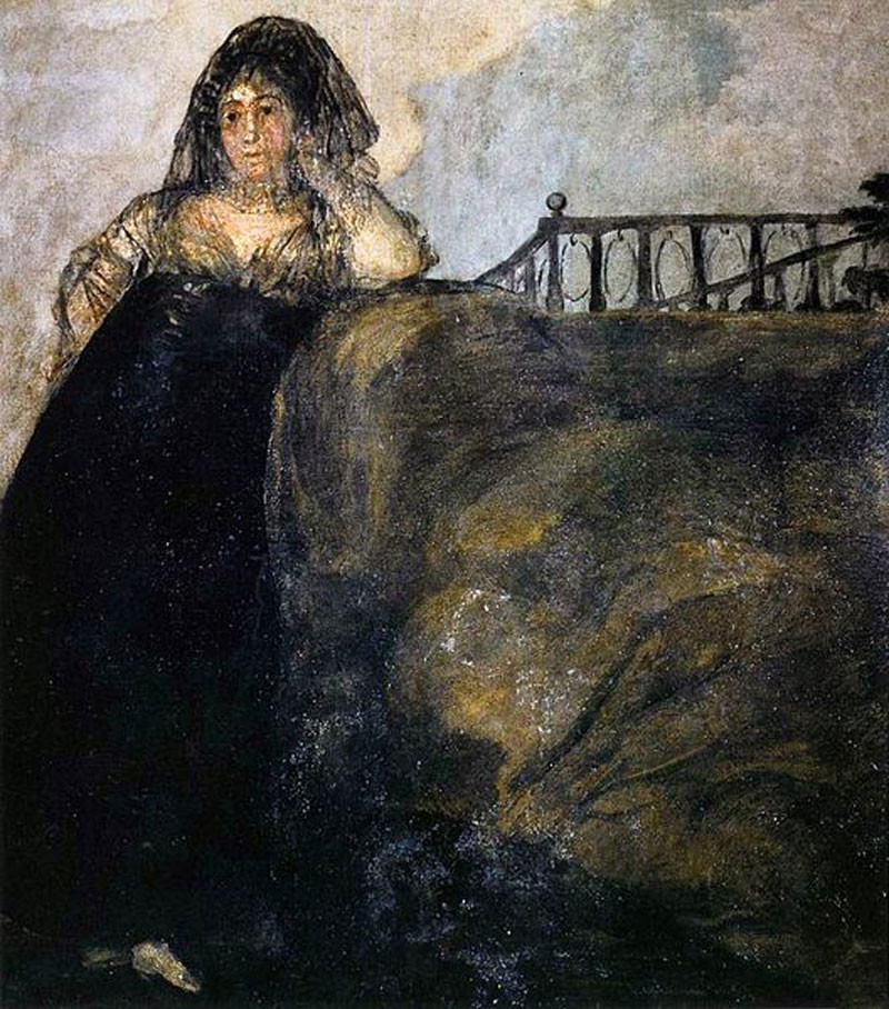 Francisco Goya, Leocadia, the Seductress, 1819-1823 -- one of the Black Paintings at the Prado