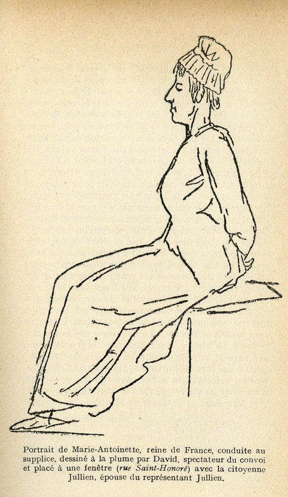 Jacques-Louis David's famous last sketch of the queen