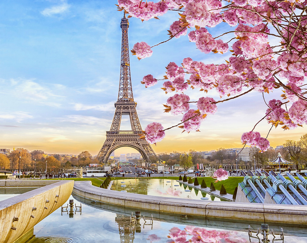 the Eiffel Tower, a famous landmark in France