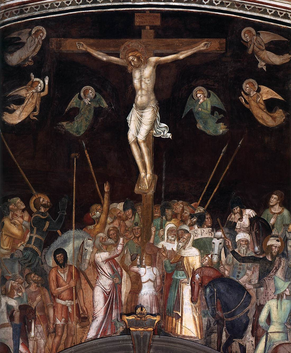 detail of the Crucifixion in the Spanish Chapel