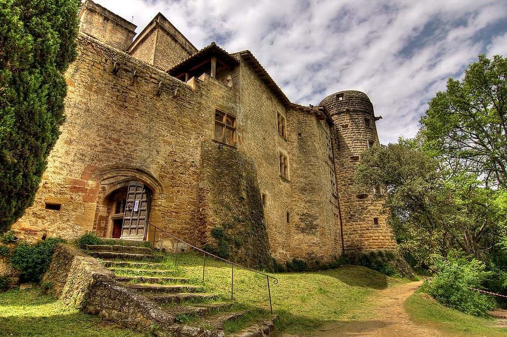 Gothic-Renaissance chateau in Lourmarin