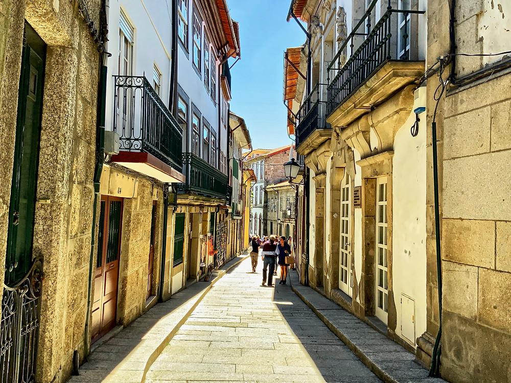 the charming Rua de Santa Maria in Guimaraes
