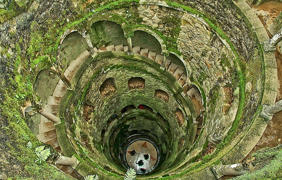 the mysterious masonic initiation well at Quinta da Regaleira in Sintra