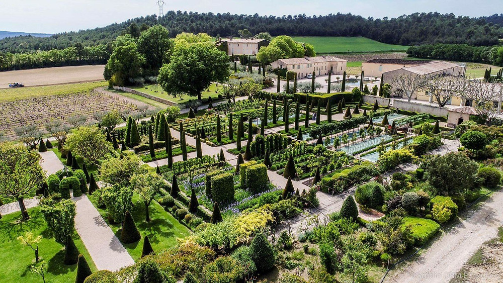 vineyard and gardens of Chateau Val Joanis